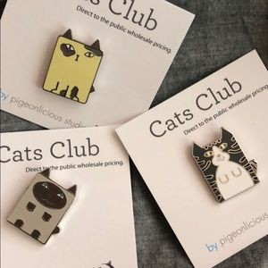 Hard enamel Cat pin from cats club. Price as per